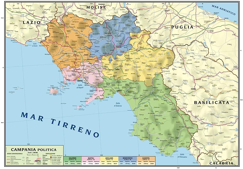 Cartina Molise Geografica.Cartina Geografica Regionale Campania Molise